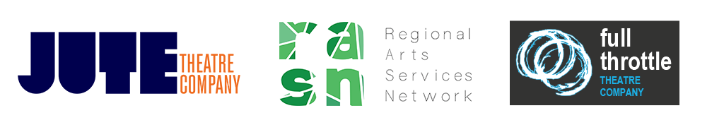 Jute Theatre Company / Regional Arts Services Networks / Full Throttle Theatre Company logos